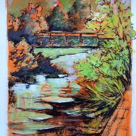 Cathy MONNIER - the footbridge on the Charente
