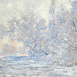 The Frost in Giverny  - Claude Monet