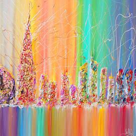 Julia Apostolova - The Future City Abstract Painting