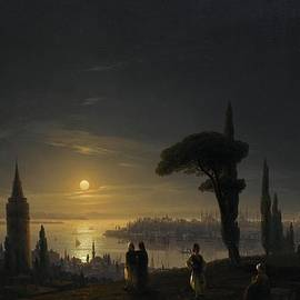 Ivan Konstantinovich Aivazovsky - The Galata Tower by Moonlight