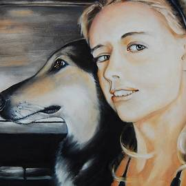 Jean Cormier - The Girl and Her Dog On A Florida Vacation