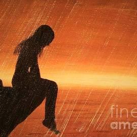 Olga Zavgorodnya - The Girl Sitting on the Edge of a Cliff