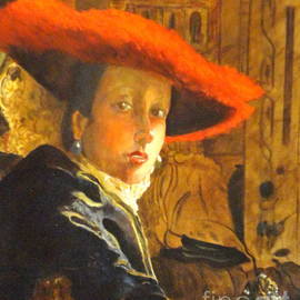 Dagmar Helbig - THE GIRL WITH THE RED HAT after Jan Vermeer