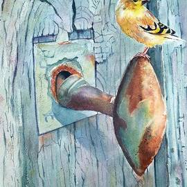 Patricia Pushaw - The Goldfinch and Blue