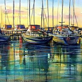 Katerina Kovatcheva - The harbour at the sunset