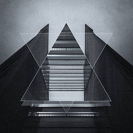 Philipp Rietz - The Hotel experimental futuristic architecture photo art in modern black and white