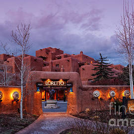 Silvio Ligutti - The Inn at Loretto at Twilight - Santa Fe New Mexico