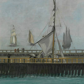 Edouard Manet  - The jetty of Boulogne sur Mer