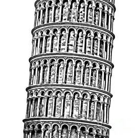 The Leaning Tower of Pisa Graphic - Edward Fielding