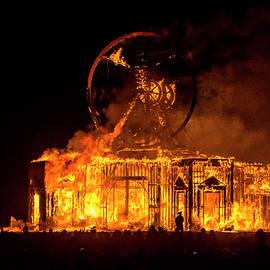The Man Burning 2 - Pelo Blanco Photo