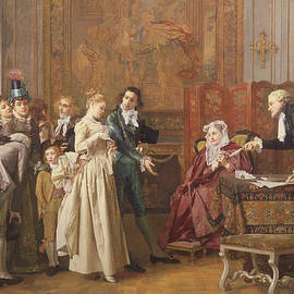 The Marriage  - Jules Adolphe Goupil