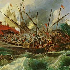 The naval battle of Lepanto - Antonio de Brugada
