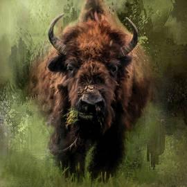 Jai Johnson - The Nibbler Bison Art by Jai Johnson