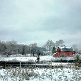 Elizabeth Duggan - The Old Red Barn In Winter