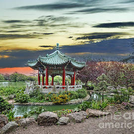 Jim Fitzpatrick - The Pagoda by Stow Lake in Golden Gate Park