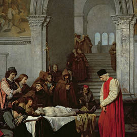 The Painter Luca Signorelli standing by the body of his rival