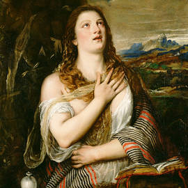 The Penitent Magdalene  - Titian