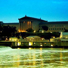 Bill Cannon - The Philadelphia Art Museum and Waterworks at Night