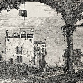 The Portico with a Lantern - Canaletto