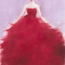 The Red Evening Dress - Beverly Brown Prints