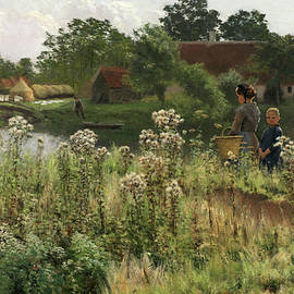 The River Lys at Astene - Emile Claus