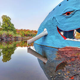 Gregory Ballos - The Route 66 Blue Whale in Fall - Catoosa Oklahoma