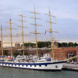 Richard Rosenshein - The Royal Clipper Docked In Venice Italy