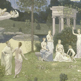 The Sacred Grove, Beloved of the Arts and the Muses - Pierre Puvis de Chavannes