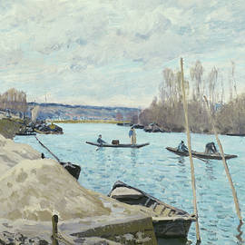 The Seine at Port Marly, Piles of Sand - Alfred Sisley