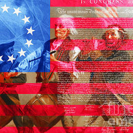 Wingsdomain Art and Photography - The Spirit of 76 The American Flag And The Declaration Of Independence 20150704