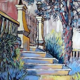 Cathy MONNIER - The stairs of the public garden