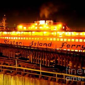 Ed Weidman - The Staten Island Ferry At Night