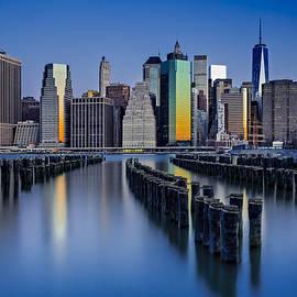 Susan Candelario - The Sun Rises At The New York City Skyline
