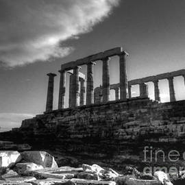 Vicki Spindler - The Temple Of Poseidon in Black and White HDR
