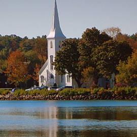 Karen Cook - The three churches of Mahone Bay