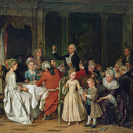 The Toast to the Bride, 1870  - Marc Louis Benjamin Vautier