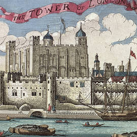 The Tower of London Seen from the River Thames - English School