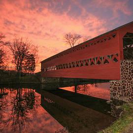 Sharon Horn - Sachs Covered Bridge at Sunset