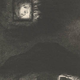 The vague glimmer of a head suspended in space - Odilon Redon
