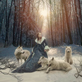 Cindy Grundsten - The white wolves