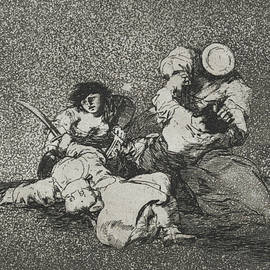 The women give courage from the series The Disasters of War - Francisco Goya