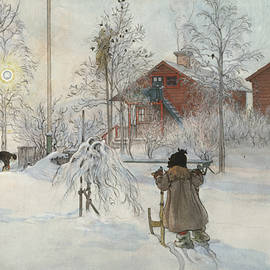 The Yard and Washhouse. From A Home - Carl Larsson