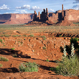 The Yei Bi Chei and Totem Pole in Monument Valley Utah