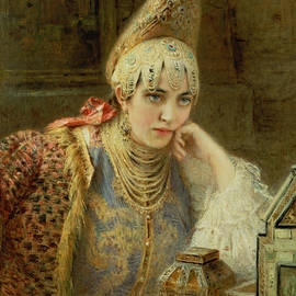 The Young Bride - Konstantin Egorovich Makovsky