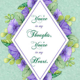 JH Designs - Thoughts of You Purple Watercolor Flowers