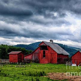 Thomas R Fletcher - Threatening Sky and Barn