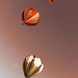Jeff Swan - Three Balloons swirling skyward