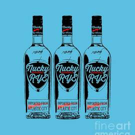 Three Bottles of Nucky Rye Tee - Edward Fielding
