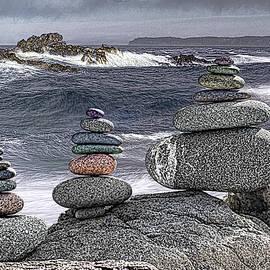 Marty Saccone - Three Cairn Seascape