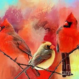 Janette Boyd - Three Cardinals in Summer